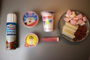 Zuckerstreusel Sprühsahne Glasur Eiswaffeln Brezeln Mäusespeck Zuckerwatte