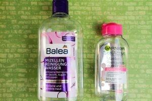 Balea Mizellen Reinigungswasser und Garnier Skinactive Mizellen Reinigungswasser
