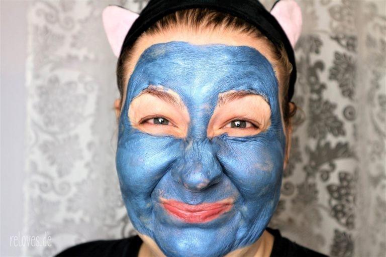 blaue Tonerde Maske