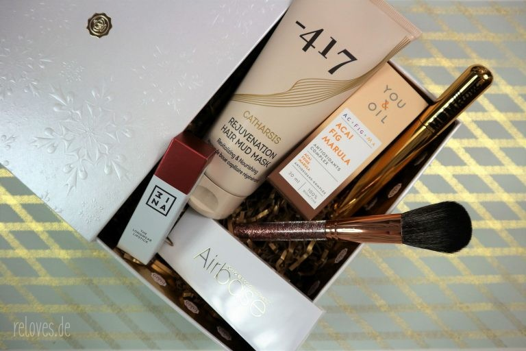 der Inhalt der Glossybox Merry Christmas Edition