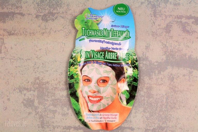 Montagne Jeunesse Tuchmaske mit Teebaumöl