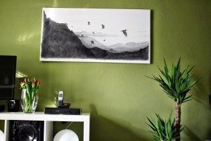 Wohnzimmerumgestaltung mit Posterlounge Motiv Hobbit