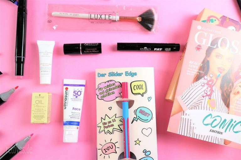 Inhalt der Glossybox Mai - Comic Edition