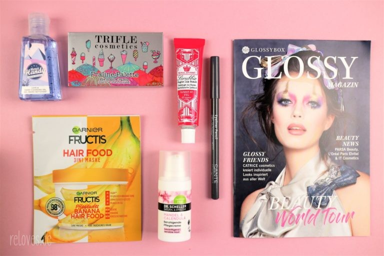 Inhalt der Glossybox September Beauty World Tour