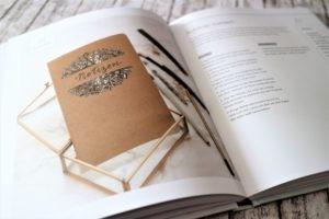 Notizbuch mit Lettering nachgemacht aus dem Buch Handlettering Projekte von Frau Hölle