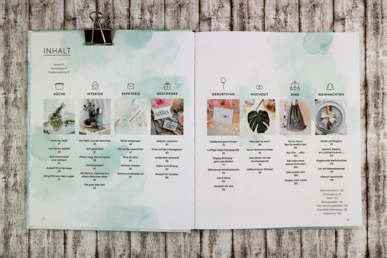 Hand Lettering Projekte Inhaltsverzeichnis