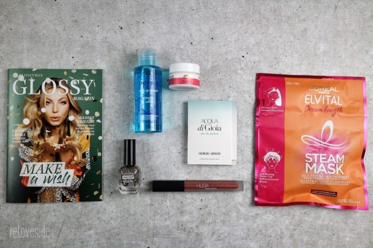 Der Inhalt der Glossybox November - Make A Wish Edition