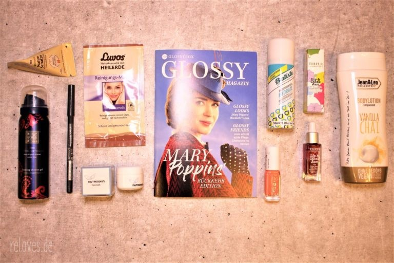 Der Inhalt der Glossybox Mary Poppins Rückkehr Edition