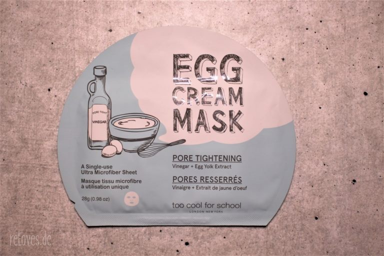too cool for school Egg Cream Tuchmaske Pore Tightening