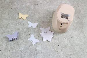 Gestanzte Schmetterlinge für DIY 3D Schmetterlingsbild