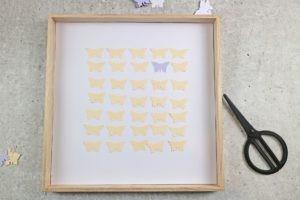 Schmetterlinge für 3D Schmetterlingsbild im Rahmen positionieren