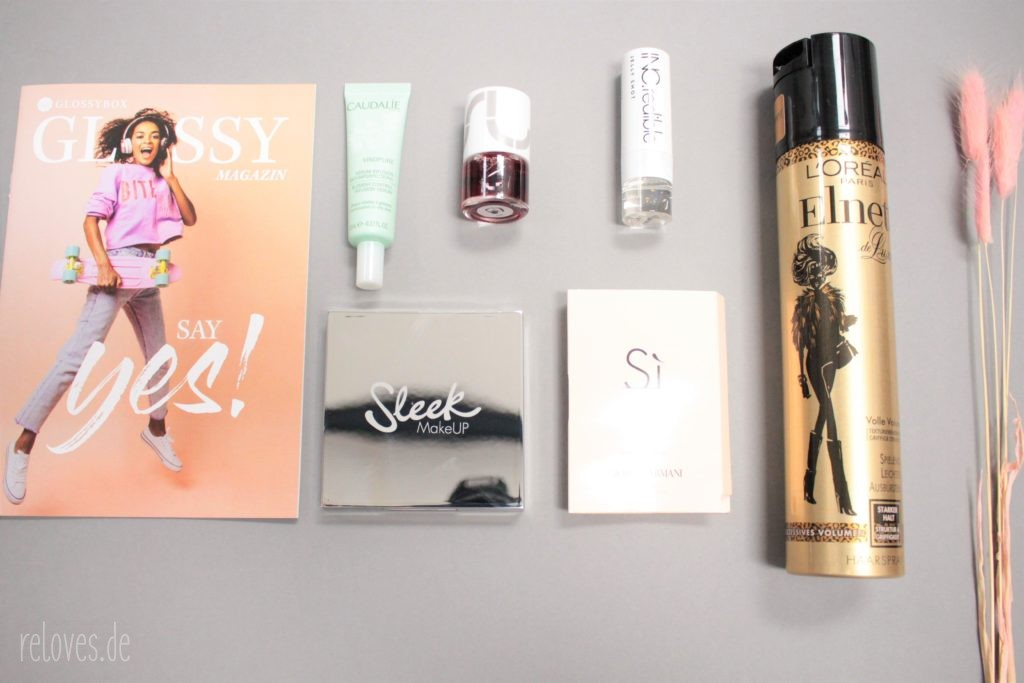 Alle Produkte der Glossybox Mai - Say Yes! Edition