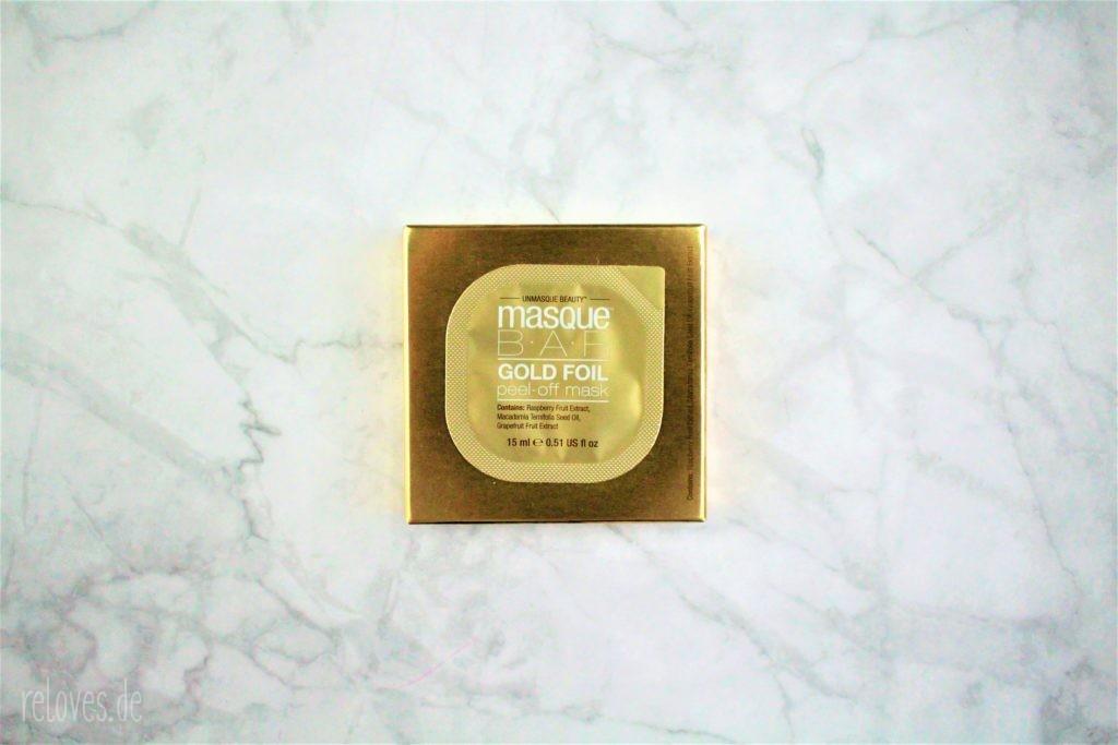 MasqueBar peel-off Maske GOLD FOIL