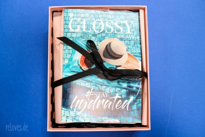 Glossybox Juli - #stayhydrated Edition