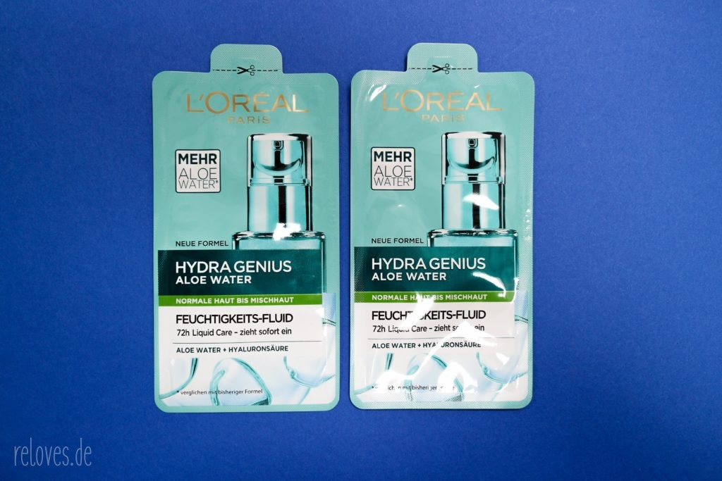 Glossybox Juli - #stayhydrated Edition L´Oréal Hydra Genius Aloe Water