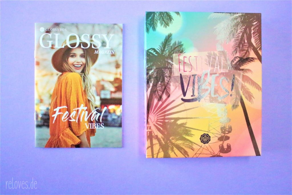Glossy Magazin der Glossybox Juni - Festival Vibes Edition