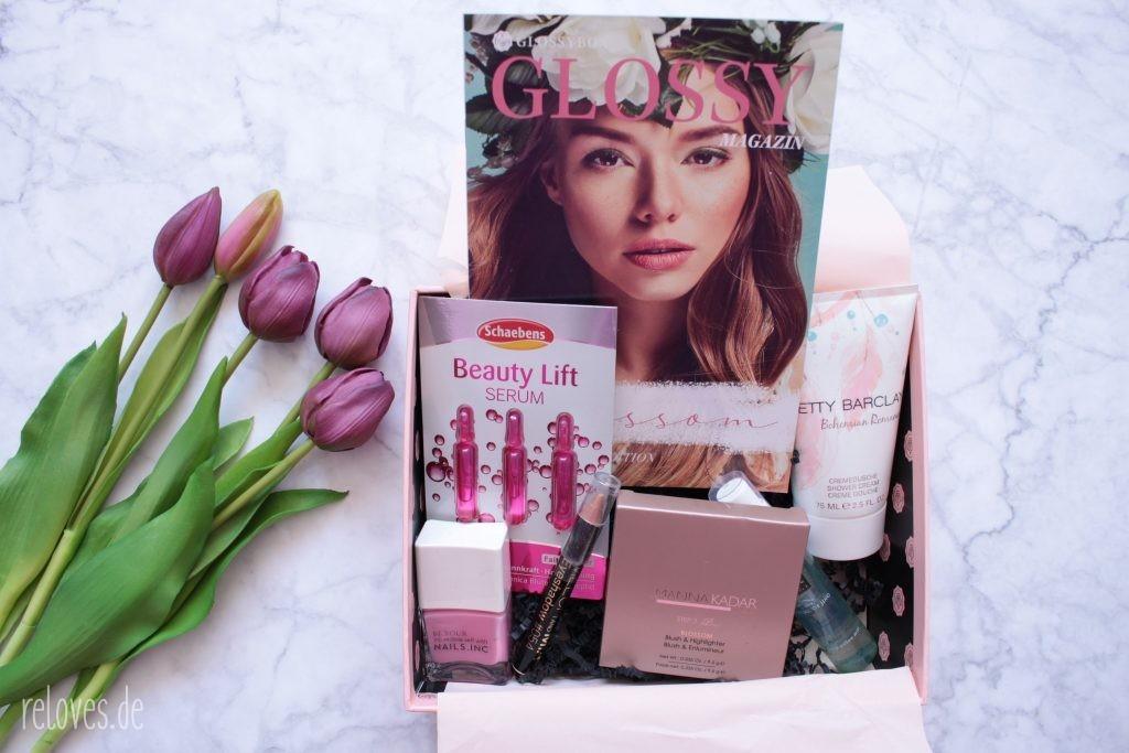 Inhalt der Glossybox April 2020 - Blossom Edition